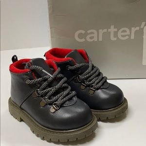New - Carter's Toddler Boys Lace Up Boots 5 5M